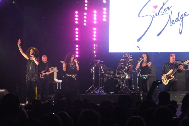 Sister Sledge get down in the heart of East London, UK, August 14th 2014